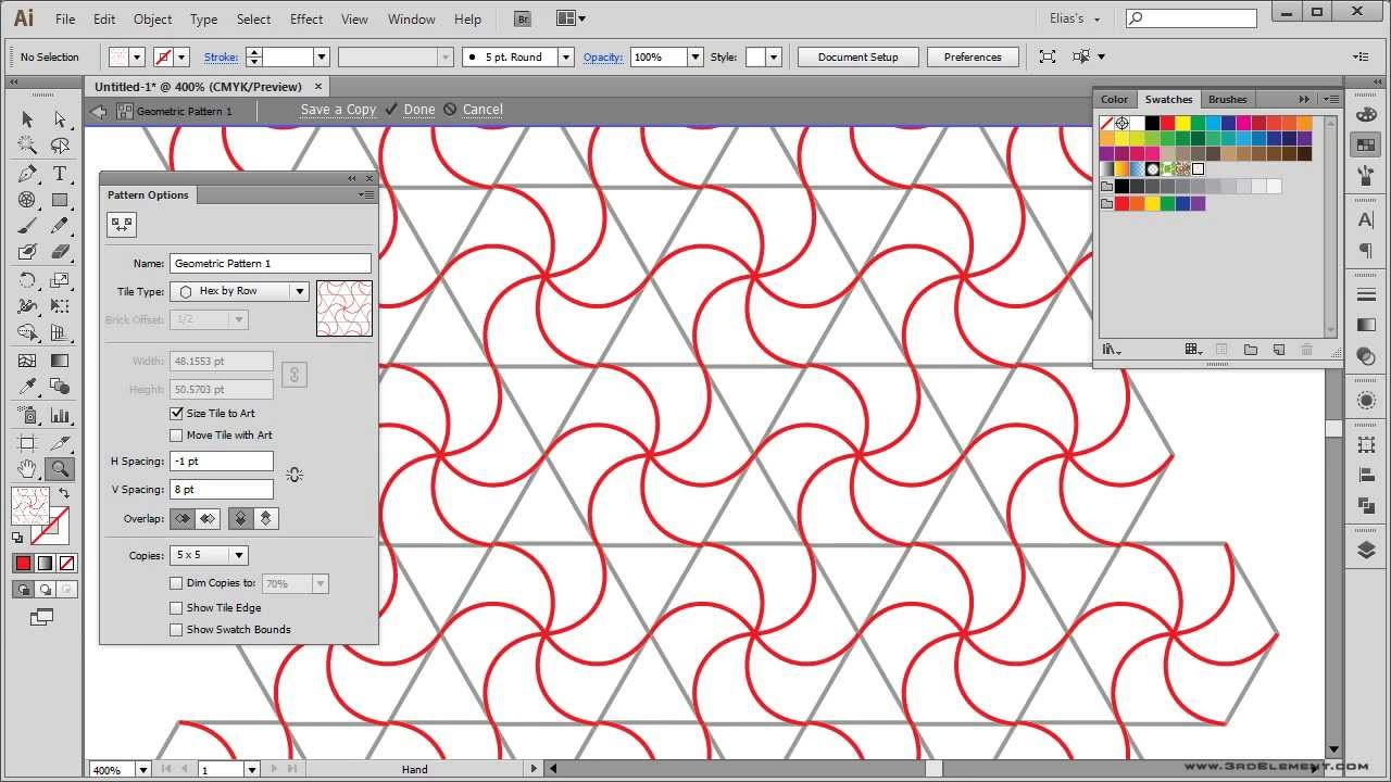 how to create a geometric pattern illustrator tutorial youtube