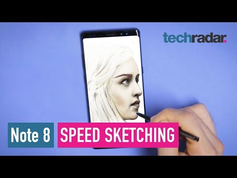 Samsung Galaxy Note 8 speed sketching