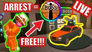ARREST ME for FREE BOSS GAMEPASS!!! | JAILBREAK UPDATE | Roblox Jailbreak Live