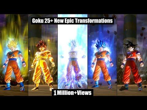 Goku 25+ New Transformations KK-FSS-SSJ1-USS-2-3-PU-4-5-G-B-BK-BE-B2-3-4-5-UI-MUI-SSJUI & FinalForms