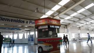 Entrando El Central De Autobuses CAPU De Puebla Mexico 2017