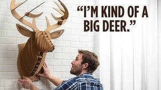 Cardboard Safari Animals Wall Trophies