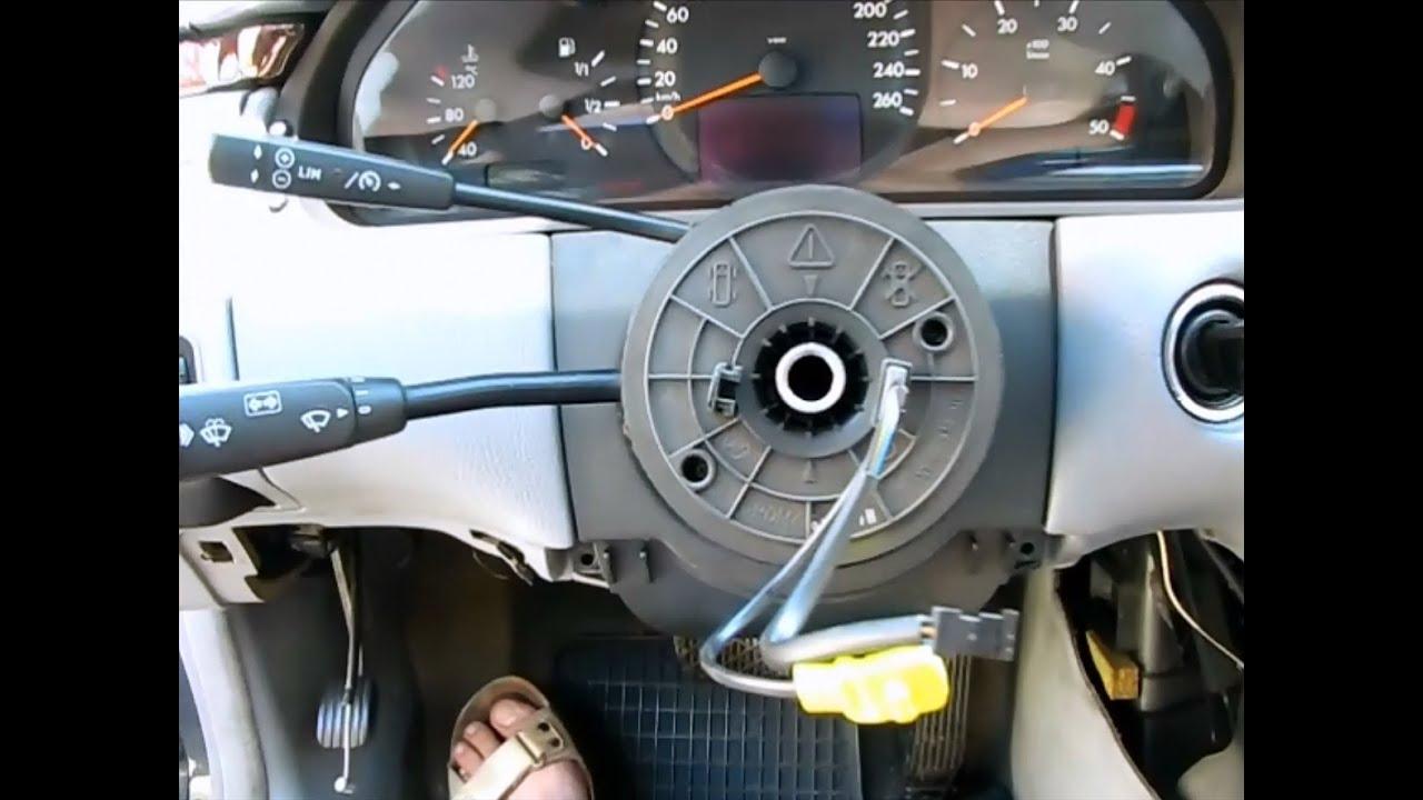 не работают кнопки на руле мерседес с 203