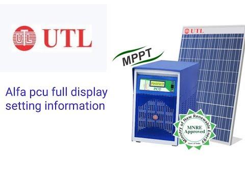 Utl alfa solar pcu display setting
