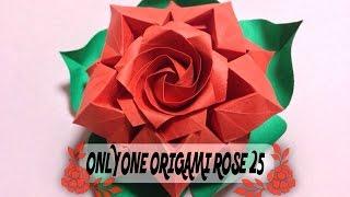 達人折りのバラの折り紙25 Only one origami rose25