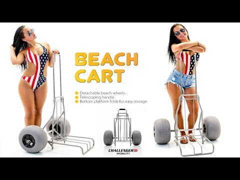 Challenger Folding Beach Cart with Large Balloon Wheels J202