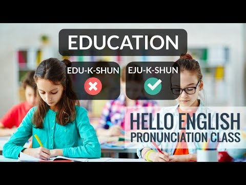 How To Say Schedule, Education, Etc? Hello English Pronunciation Class 41