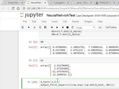 Neural Net implementation on Python on Pynq FPGA Digitronix Nepal Tutorial  Series on FPGA