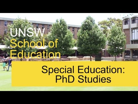 PhD Studies: Special Education, School of Education, UNSW Australia