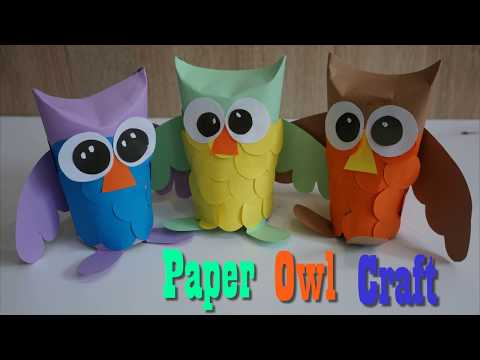 Owl Craft Paper  For Kids ||  How to make a paper Owl