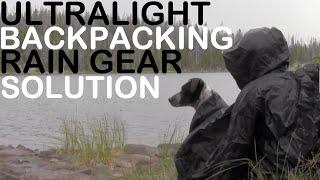 Ultralight Backpacking Rain Gear Solution! Silnylon Hammock, Poncho, Tarp Shelter & Ground Cloth.