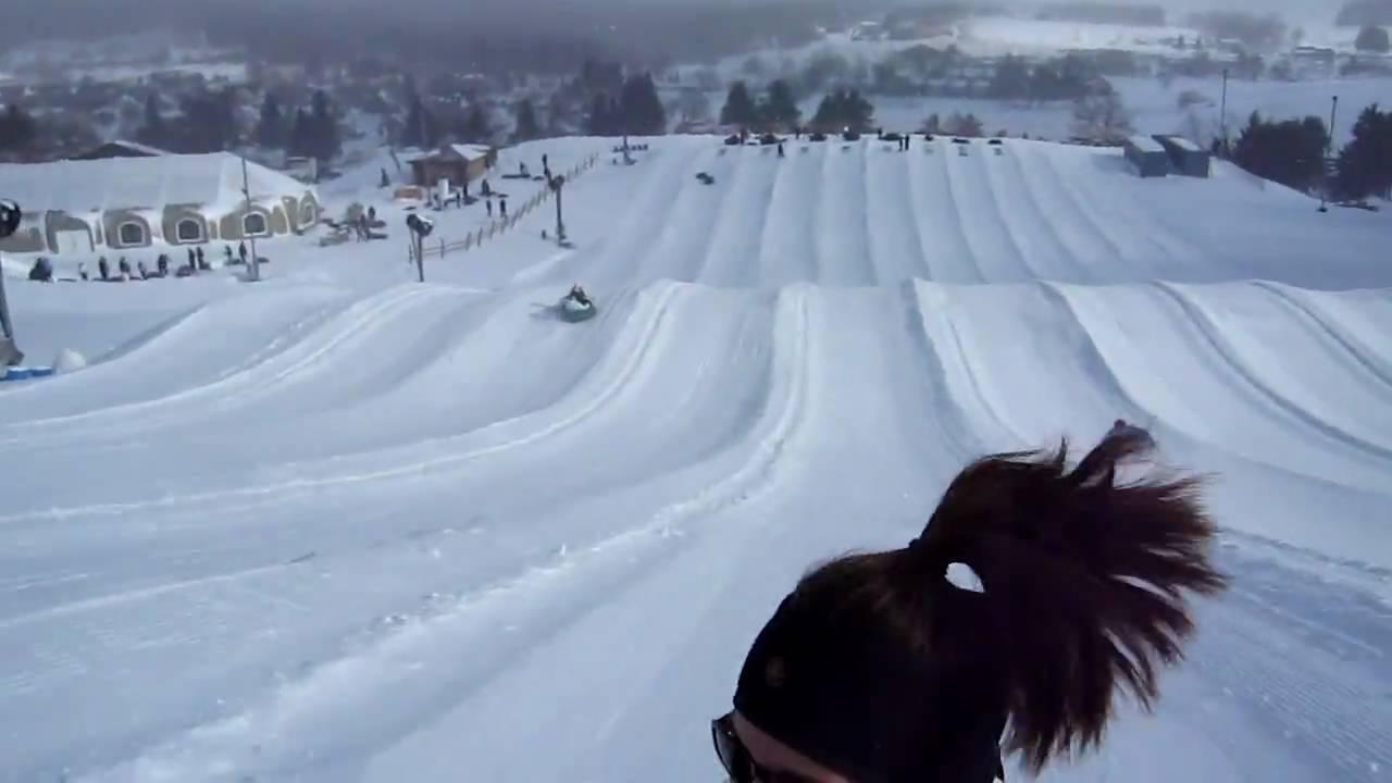 snow tubing video wisp - youtube