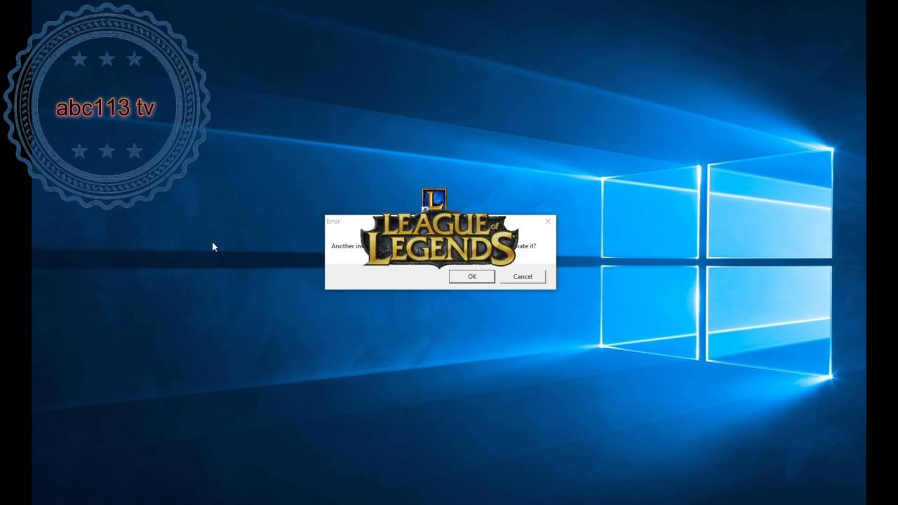 league of legends has stopped working windows 10