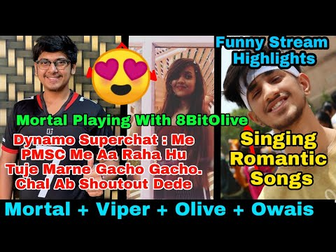 😍Mortal Plays With Olive After She Joined 8Bit | 8BitOlive Playing With SoulMortal | Owais Romantic
