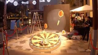 "3d street painting ""Darts"""