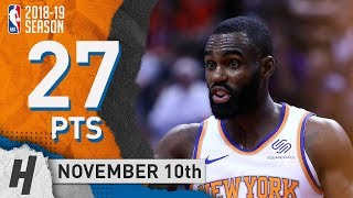Tim Hardaway Jr Full Highlights Knicks vs Raptors 2018.11.10 - 27 Pts, 2 Ast, 4 Rebounds!