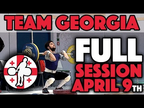Team Georgia - Warmup, Snatch, C&J, & Back Squats (April 9th