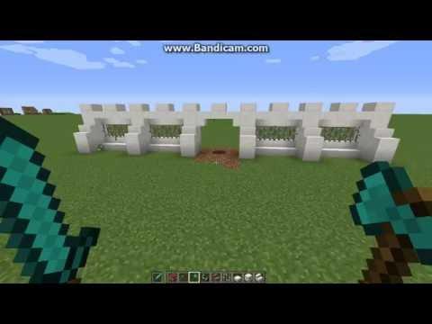 Ролик Заборы в Minecraft - быстро,легко,красиво