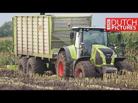 Mais hakselen 2017   Modderen   Stuck in the mud   New Holland FR9050   Claas Jaguar 840   Maize