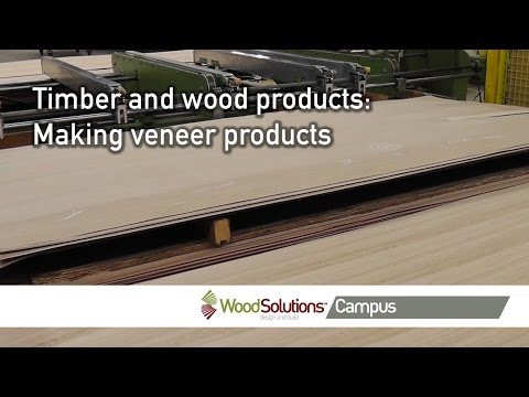 Timber and wood products: Making veneer products