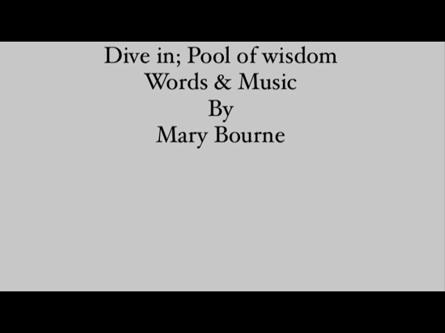 Dive in; Pool of Wisdom