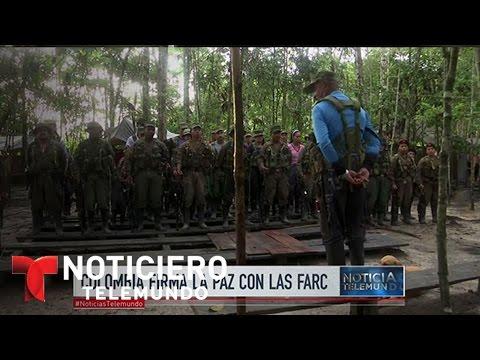 Gobierno de Colombia y FARC firman la paz | Noticiero | Noticias Telemundo