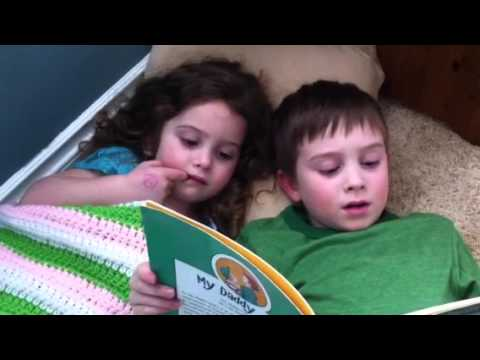 Leo reads to Somerset