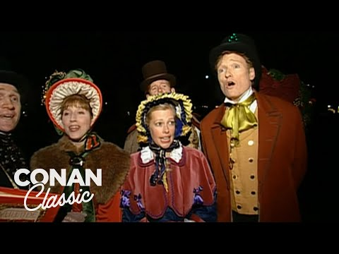"Conan Goes Christmas Caroling - ""Late Night With Conan O&39;Brien"""