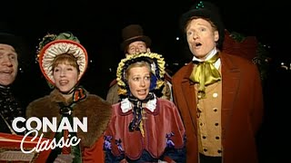 "Conan Goes Christmas Caroling - ""Late Night With Conan O'Brien"""