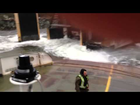 Crazy wind aborts Airport Ferry Landing Ketchikan.