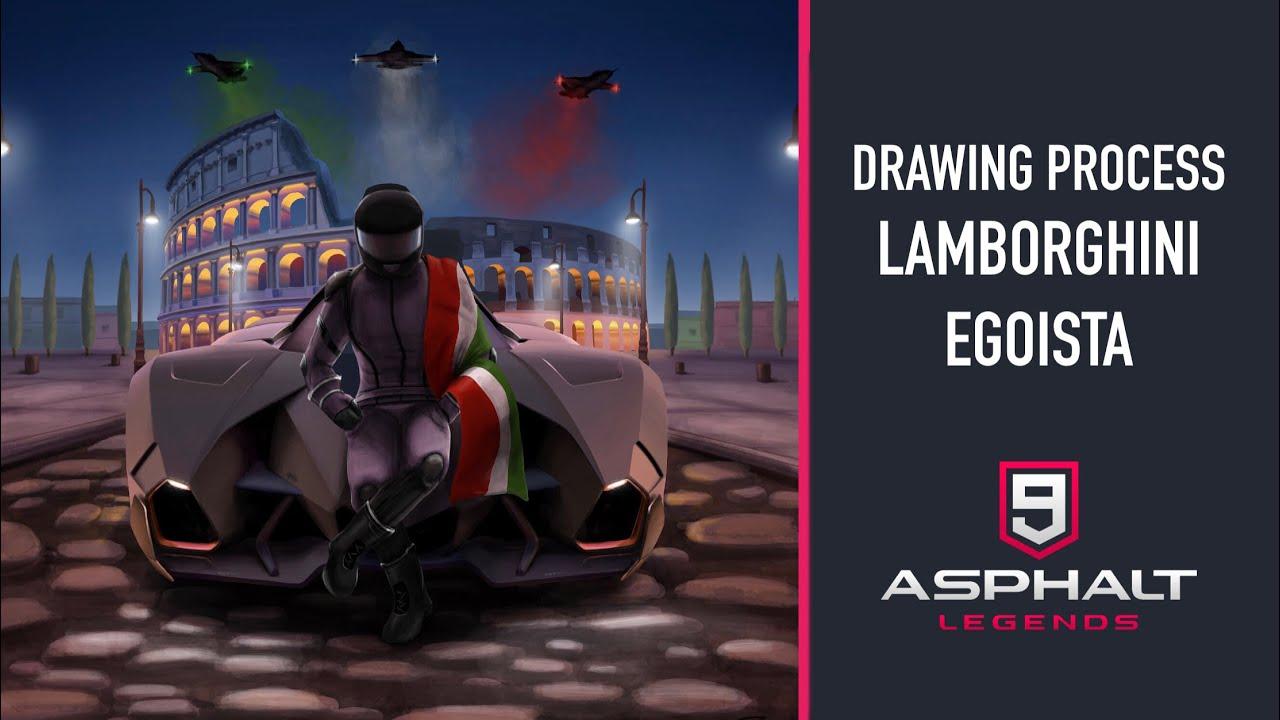 Drawing Process Lamborghini Egoista Asphalt 9 Youtube
