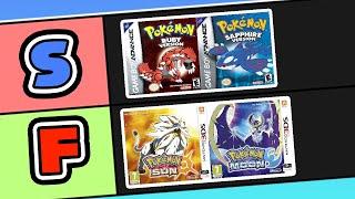 Generic PokeTuber Ranks Pokemon Games! (Pokemon Games Tier List)