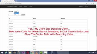 Search Functionality In ASP.NET MVC    Using Jquery Ajax