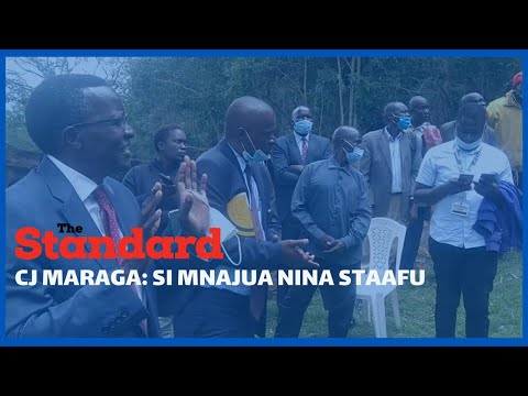 Chief Justice  Maraga hints at retiring as he addressed citizens while on tour in Migori High Court