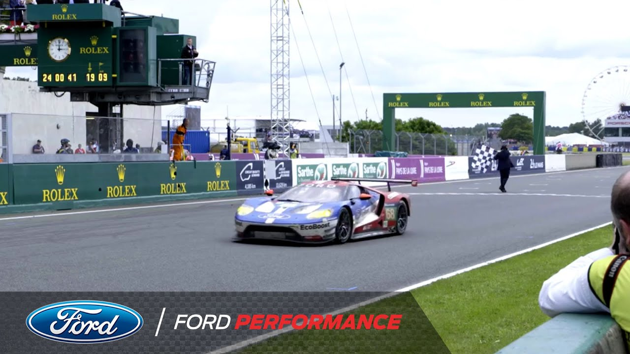 Ford Gt Wins Le Mans 2016 Team Reaction Le Mans Ford Performance Youtube