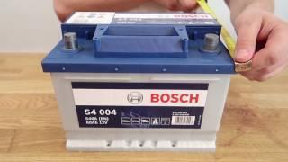 видео автомобильный аккумулятор Bosch Silver 45 а/ч