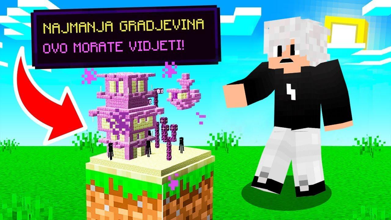 Minecraft, ALI GRADJEVINE SU SVE MANJE I MANJE!