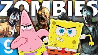 KRUSTY KRAB ZOMBIE HORDE DEFENSE!!! | Gmod Sandbox (Spongebob vs Zombies)