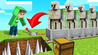 I Built An UNLIMITED IRON FACTORY In MINECRAFT!