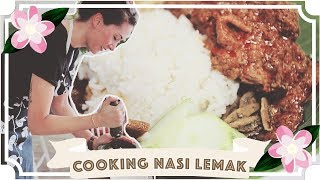 Can We Succeed At Cooking Nasi Lemak? // Jessie & Claud // Malaysia Travel Vlog