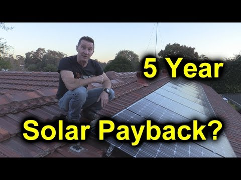 EEVblog #1086 - 5 Year Solar Power Results - Payback?