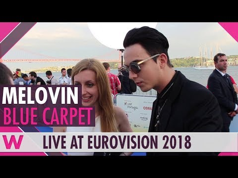 MELOVIN (Ukraine) @ Eurovision 2018 Red / Blue Carpet Opening Ceremony