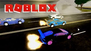Racing Sports Cars in the Around the World Race in Roblox Vehicle Simulator Gameplay