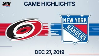 NHL Highlights   Hurricanes vs. Rangers – Dec. 27, 2019