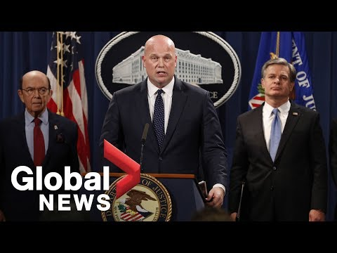 Matt Whitaker announces charges against Huawei officials