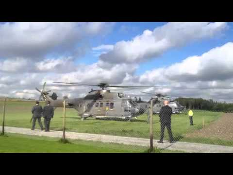 President Arrives In Helicopter Up Close