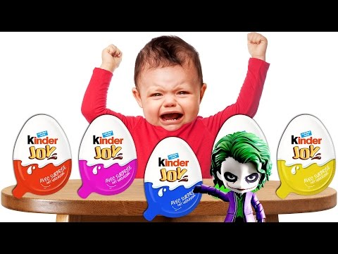 Thumbnail: Because of Joker Crying Bad Baby Learn Colours Kinder Joy Finger Family Song Collection