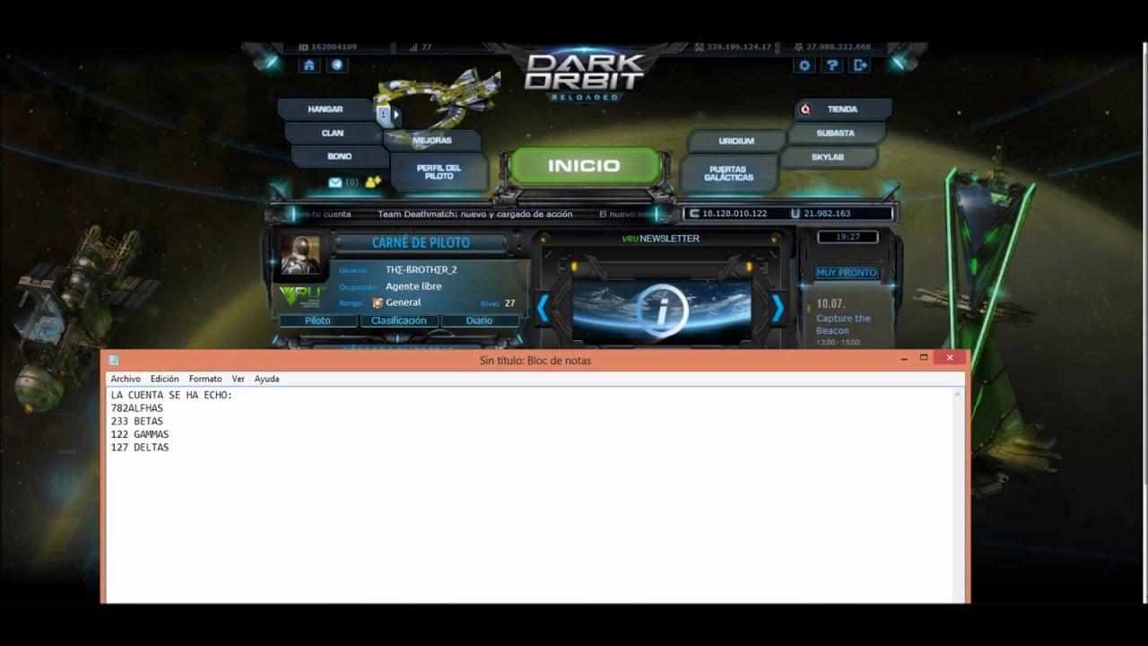 Dark Orbit regalo cuenta lvl 27 y Full Elite ¡OMG! (Cerrado)