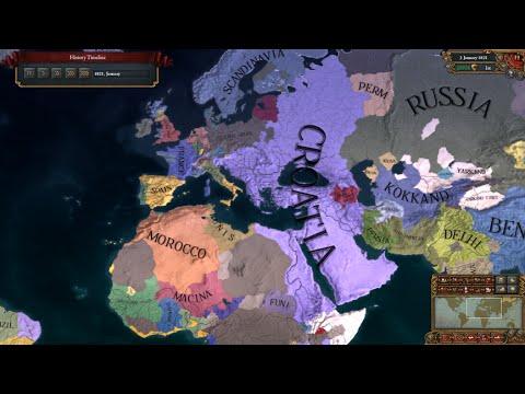 #1 | EU4 Timelapse | My Croatian Empire | Croatia Timeline