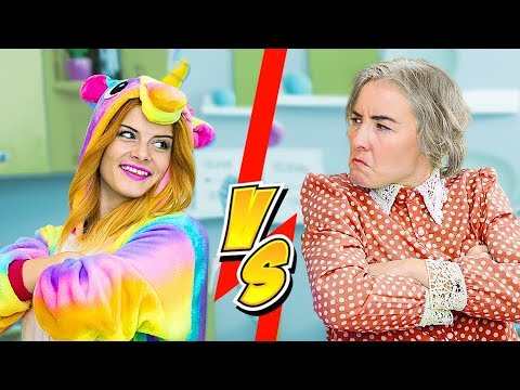 SQUISHY ESSENS vs SLIME ESSENS HERAUSFORDERUNG / EINHORN vs OMA - 8 IDEEN